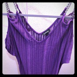 Bebe purple chain tunic top